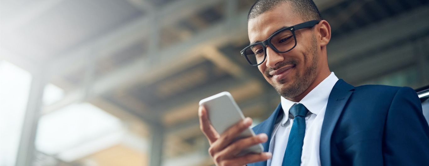 Woman looking at mobile phone